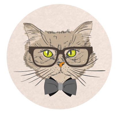 Freestyle Libre sensor sticker - cat with glasses 2