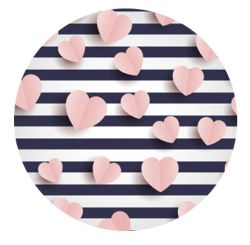 Freestyle Libre sensor sticker - pink hearts