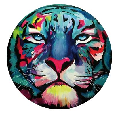 Freestyle Libre sensor sticker - colorful tiger