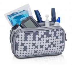 Pen case on accessories for diabetics - Gray