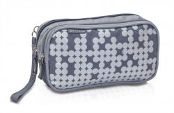 Pen case for carrying diabetic accessories and personal belongings.