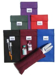 FRIO Duo Wallet cooling case for diabetic accessories. | black, purple, red