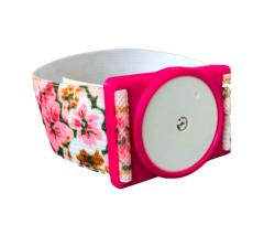 Plastic holder for Freestyle Libre sensor  - pink