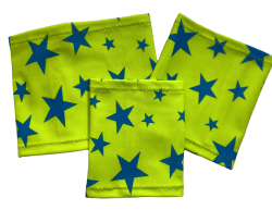 Elastic armband - Star - green background