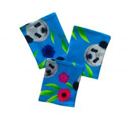 Elastic armband - Panda blue background