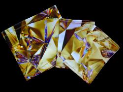 Elastic armband -  Golden crystal