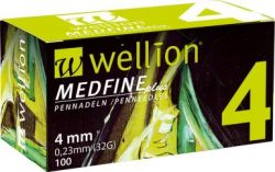 Insulin needles Wellion MedFine 32GX4mm / pack.100pcs