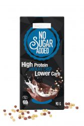 Milk chocolate with choco crisp High Protein Lower Carb 90g