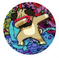 Freestyle Libre sensor sticker - Pug- dog