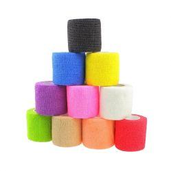 Self-holding elastic bandage 5m x 4.5cm  | green, pink, purple, red